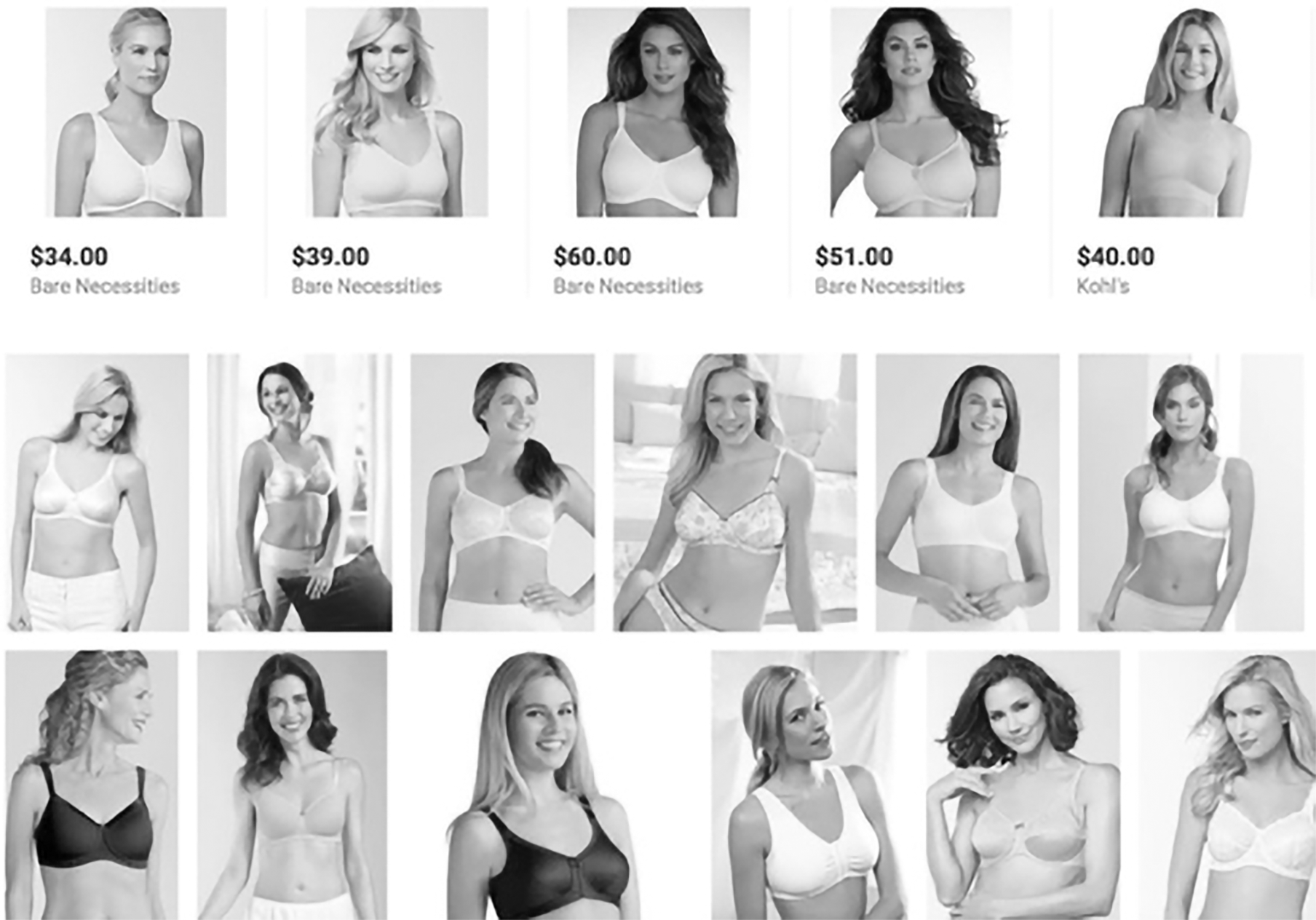 Fig. 2 – Mastectomy bras on Google Shopping